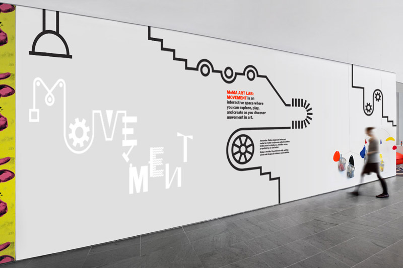 moma art lab movement the department of advertising and graphic design - Wall Graphic Designs