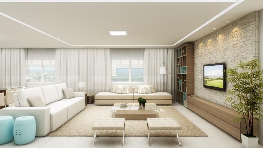 Como Organizar Sala De Estar E Jantar Juntas ~ Projeto arquitetônico por Cristina Azevedo Arquitetur